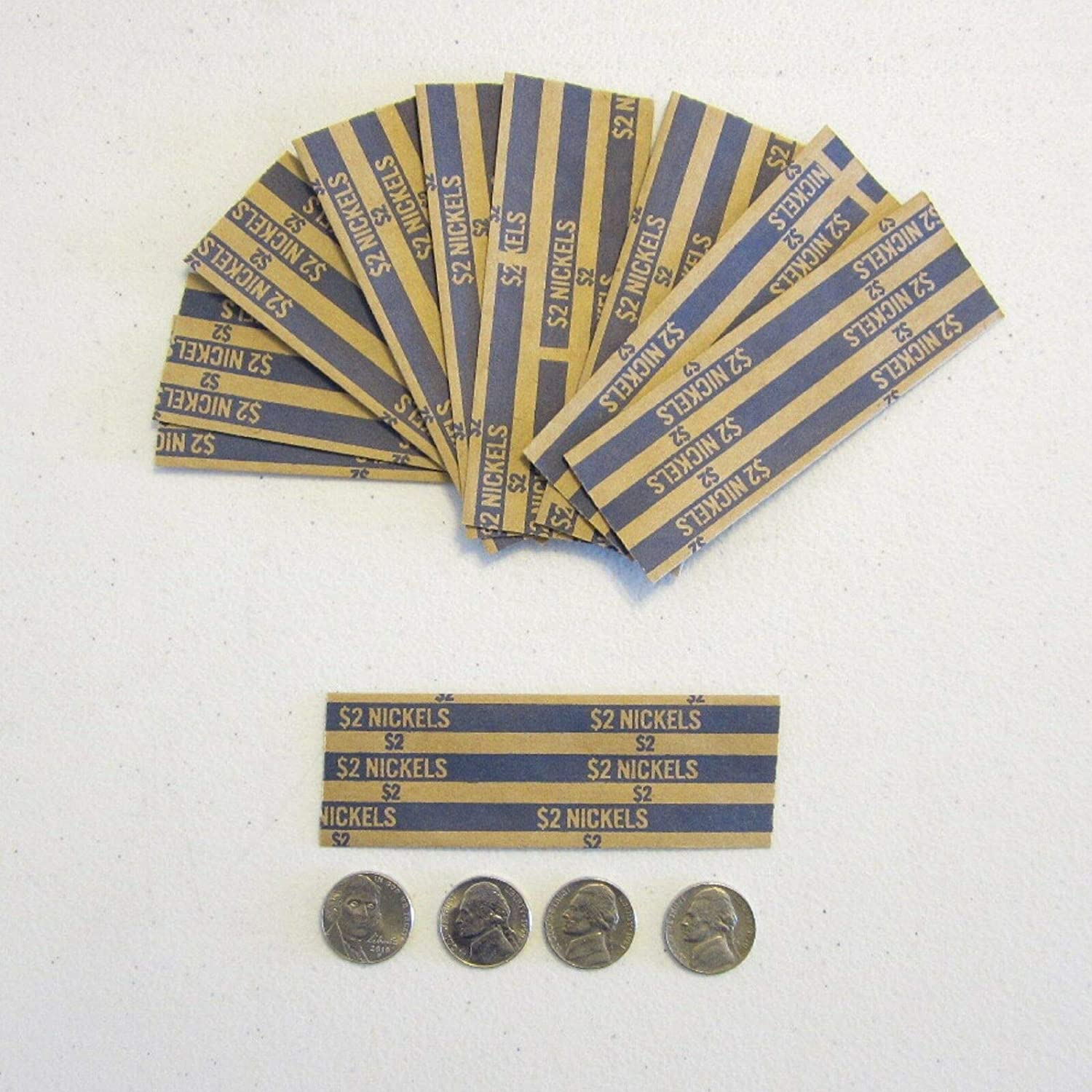150 Coin Wrappers for Nickels Nickel Cent Free Shipping New New York Mall Wra Five Wrapper Coins
