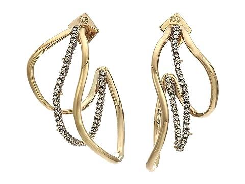 Alexis Bittar Orbit Wavy Hoop Earrings