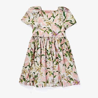 Dolce & Gabbana Kids Lily Print Poplin Dress (Big Kids) (Gigli Rosa) Girl
