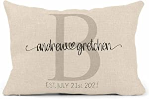 Wedding Gifts for Couples Unique 2021 for Couple - House Warming Presents for New Home - Cojines Decorativos para Sala - Personalized Pillows with Names - Housewarming Gift (Design 3)