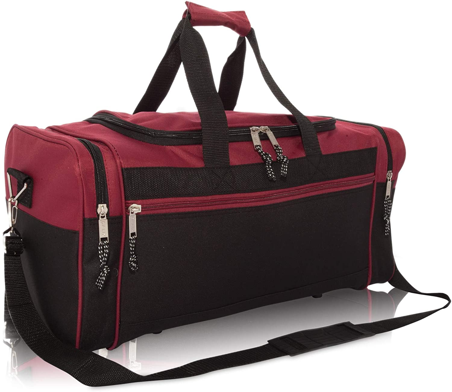 10. DALIX 21 Inch Blank Sports Duffle Bag With Adjustable Strap