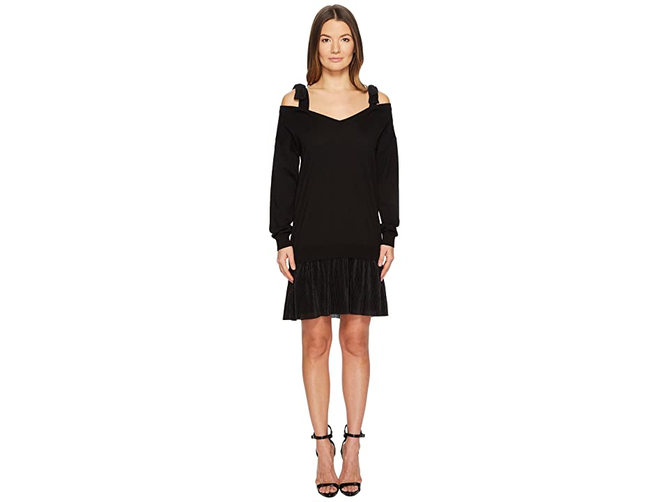 Boutique Moschino Shoulder Tie Dress (Black) Women