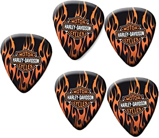 Harley Davidson guitar pick plectrum set of 5 medium gauge 0.71mm FC#1