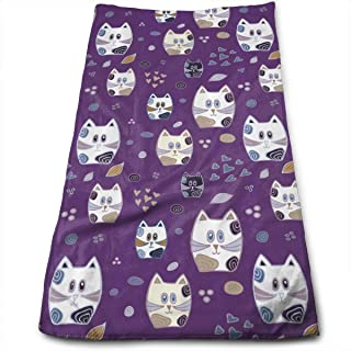 QuGujun Black Towels Gravity-Falls Pig Fashion Cool Fade-Resistant Absorbent Beach//Shower Towel