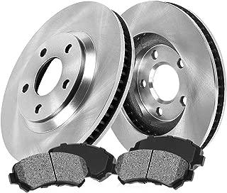 CRK13229 FRONT 260 mm Premium OE 5 Lug [2] Brake Disc Rotors + [4] Metallic Brake Pads