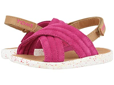 TOMS Kids Viv (Toddler/Little Kid) (Very Berry Suede) Girls Shoes