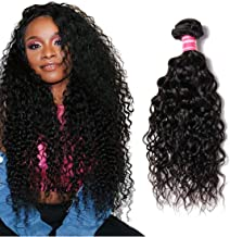 YIROO Brazilian Water Wave Virgin Human Hair Bundle Wholesale Cheap Hair Extensions 100% Unprocessed Double Weft 95-100g/pc Natural Black Color Tangle Free (16