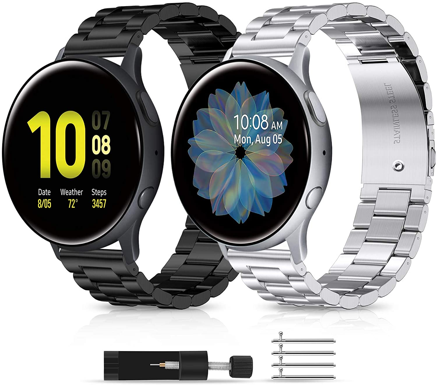 LORDSON Directly managed store shopping 2 Pack Metal Bands Samsung Compatible with Galaxy Watch