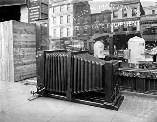 Large Camera C1920 Nan Extra Large Camera In Front Of The Standard Engraving Company In Washington DC C1920 Poster Print by (18 x 24)