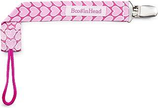 BooginHead Baby Newborn PaciGrip Pacifier Clip, Hearts Pink