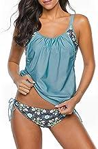 Century Star Women's Two Piece Tankini Swimsuit Floral Tank Top Bikinis Padded Swimwear with Boyshorts