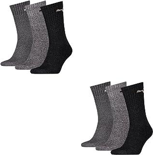 Calcetines deportivos Puma unisex, pack de 6 pares, unisex, 207 anthracite / grey, 43-46