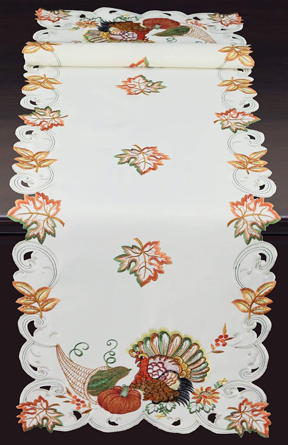 low-pricing Industry No. 1 Creative Linens Fall Harvest Thanksgiving Table Em Runner 15x52