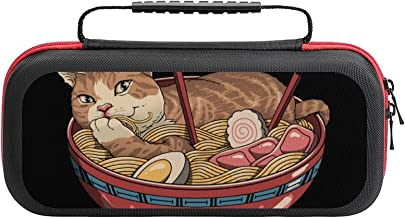 $26 » Neko Ramen Case Compatible with Switch Case Protective Carry Bag Hard Shell Storage Bag Portable Travel Case for Switch Co...