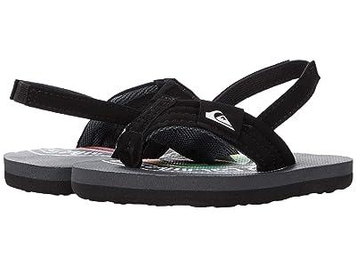 Quiksilver Kids Molokai Layback (Toddler) (Grey/Green/Grey) Boys Shoes