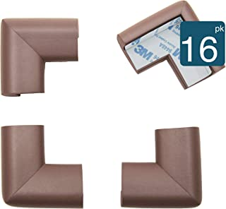 Roving Cove | Corner Guards | Baby Safety Table Corner Protectors | Corner Bumper | Baby Proof Table Furniture Corner Guard Edge Protector | Safe Corner Cushion | Pre-Taped | 16-pcs Coffee (Brown)