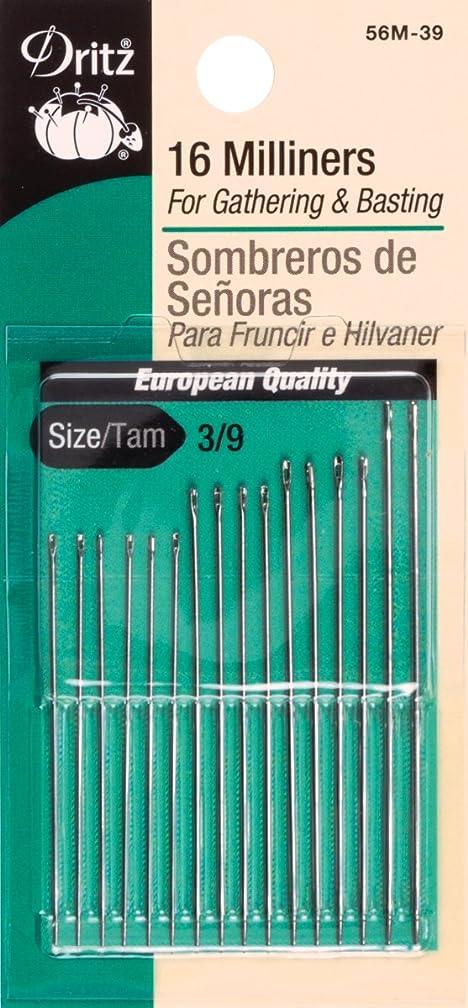 Dritz 56M-39 Milliners Hand Needles, Size 3/9 (16-Count)