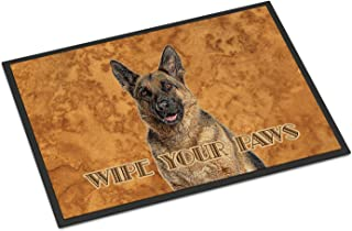 Caroline's Treasures KJ1222MAT German Shepherd Wipe Your Paws Indoor or Outdoor Mat 18x27, 18H X 27W, Multicolor