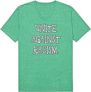 SpiritForged Apparel Unite Against Racism Men's V-Neck T-Shirt