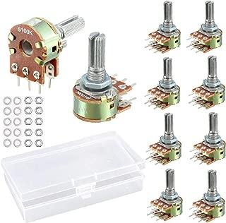 SamIdea Pack of 10 WH148 100K Ohm Variable Resistors Dual Rotary Carbon Film Taper Potentiometer