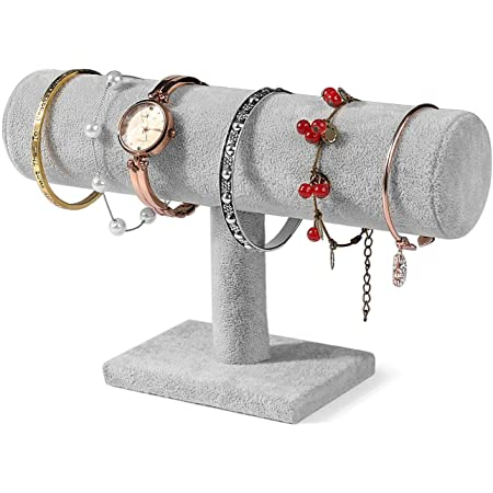 Bracelet Organizer Box of 2 For Mom T-Bar Jewelry Stand For Mothers