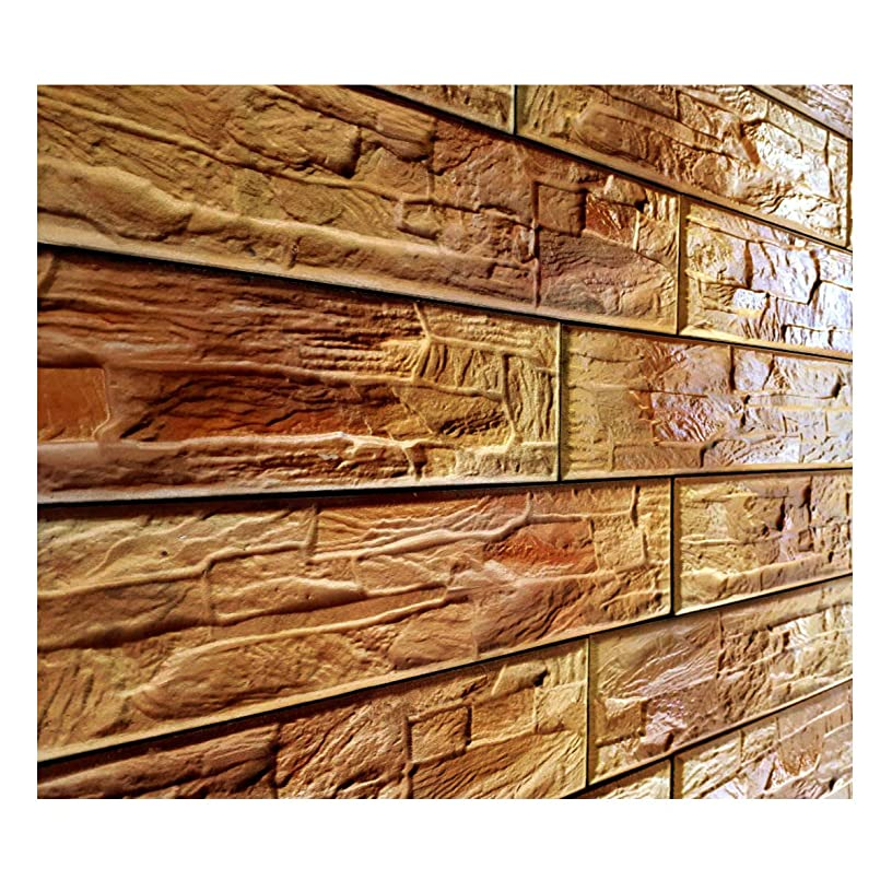 Polyurethane Mold Form BATUMI BRICK   Texturing Skin Slate Pattern Stone Decorative Concrete Cement Imprint Polyurethane Texture Stamp Mat Polyurethane Stamping