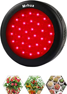 Mrhua 150W UFO LED Grow Light, Red Grow Light 660nm Light Indoor Patio Plants Grow Lamp with Full Deep Red Spectrum for Indoor Plant