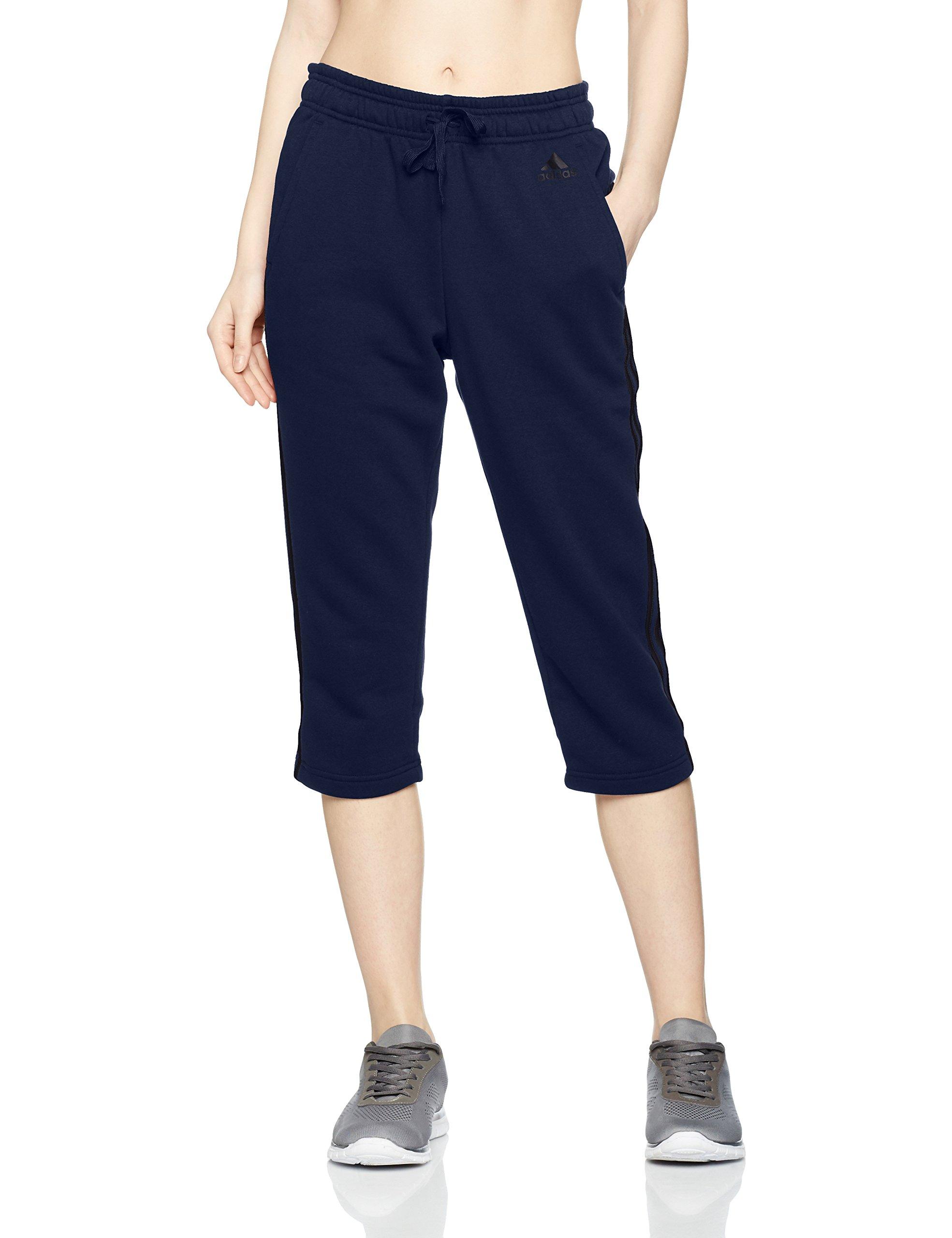 adidas 女式必备3条纹 Sweat 裤子,女式,必备3条纹