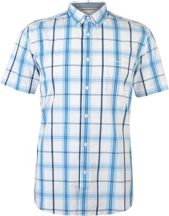 Pierre Cardin Hombre Manga Corta Lightweight Camisa Casual