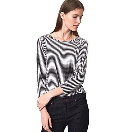 bc670b552775c Ann Taylor LOFT - Women s - Striped 3 4 Sleeve Rayon Jersey Knit Top -