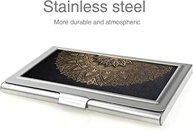 Business Card Case,Metal Business Card Holder Pocke Slim Business Card Carrier Business Card Holders Wallet for Men & Women (Mandala)