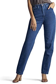 Women's Petite Relaxed Fit Side Elastic Tapered Leg Jean