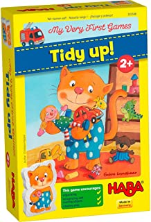 HABA 303588 My Very First Games – Tidy up! A Cooperative Game for Ages 2+ English Version (Made in Germany)