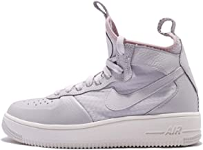 Nike Womens Ultraforce Mid Fabric Low Top Lace Up, Vast Grey/White, Size 5.5