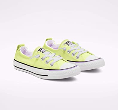 Converse Women's Chuck Taylor All Star Shoreline Low Top Sneaker (Barely Volt/White