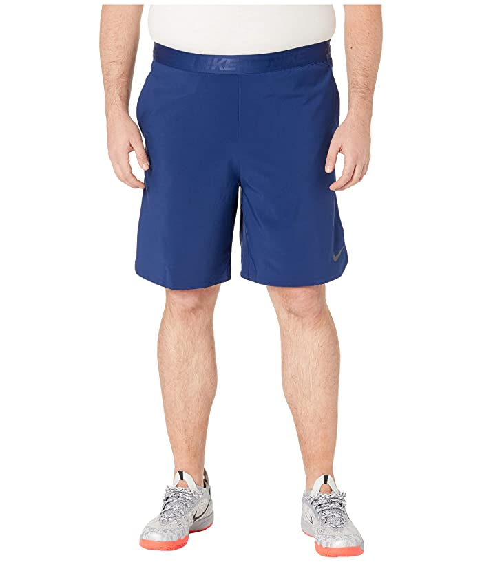 Nike Big Tall Flex Training Shorts (Blue Void/Black) Men