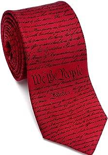 Men's Constitution of United States Silk Necktie, Made in USA