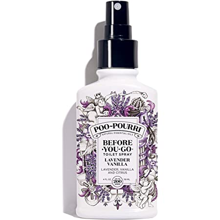 Poo-Pourri Lavender Vanilla Scent Before-You-Go Toilet Spray, 4 Oz