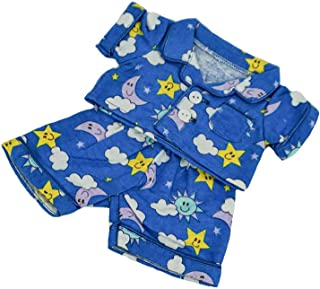 Fun Flannel Pajamas Outfit Teddy Bear Clothes Fit 8 inch to 10 inch Build-a-bear and Make Your Own Stuffed Animals
