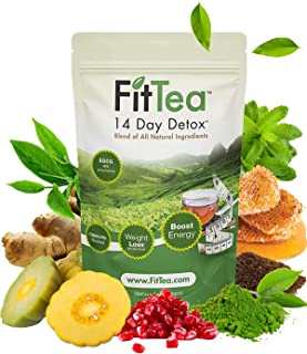 Fit Tea 14 Day Detox Herbal Weight Loss Tea- Natural Weight Loss, Body Cleanse and Appetite Control