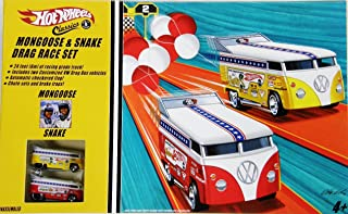 Hot Wheels Snake & Mongoose Drag Race Set with 2 VW Drag Buses Limited Edition 1:64 Scale Collectible Die Cast Car Models