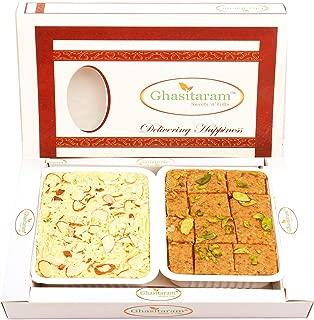Ghasitaram Gifts Indian Sweets - Diwali Gifts Diwali Sweet - Besan Barfi and Soan Papdi Hamper