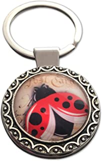 Lucky Ladybug Keychain for Women Key Ring Purse Charm Gift for New Driver