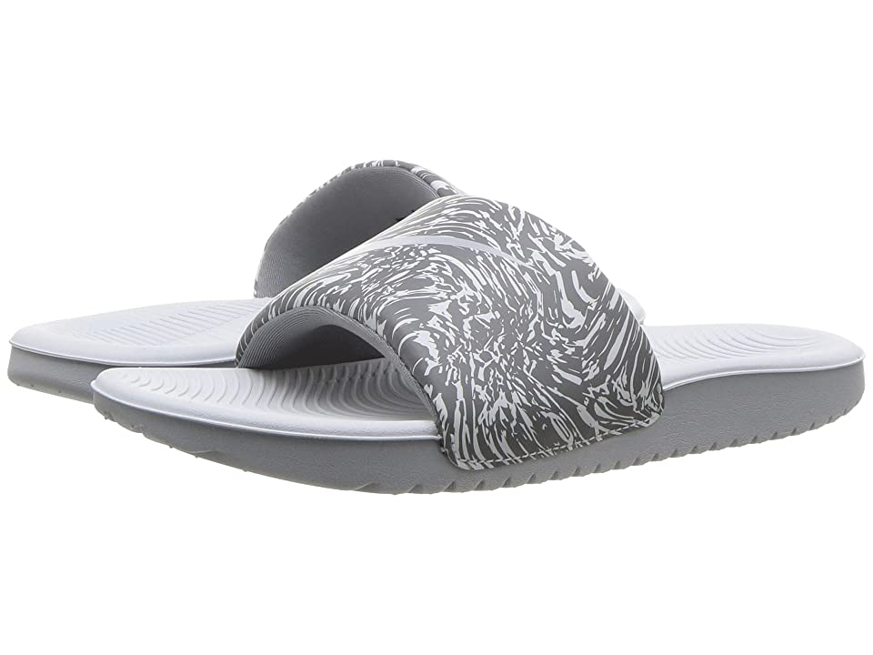 Nike Kids Kawa Slide Print (Little Kid/Big Kid) (Pure Platinum/Wolf Grey/Cool Grey) Boys Shoes