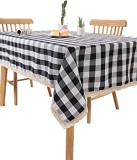 black and white checkered drapes