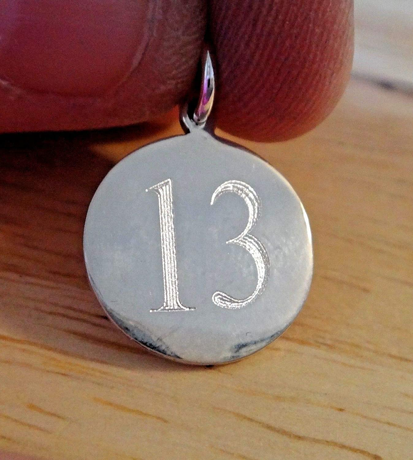 Sterling Silver 15mm New York Daily bargain sale Mall Number 13 Birthday Anniversary Thirteenth E
