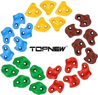 TOPNEW 25 Rock Climbing Holds for Kids and Adults, Large Rock Wall Grips for Indoor and Outdoor Play Set - Build Rock Clim...