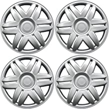 15 inch Hubcaps Best for 1988-2001 Toyota Camry - (Set of 4) Wheel Covers 15in Hub Caps Silver Rim Cover - Car Accessories for 15 inch Wheels - Snap On Hubcap, Auto Tire Replacement Exterior Cap