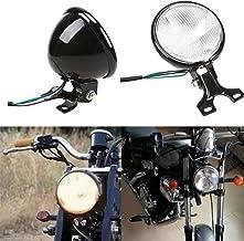 WYShop 2 X universale moto LED metallo sfera ambra Stop freno freccia lampada per Kawasaki Honda Yamaha Harley Suzuki Chopper