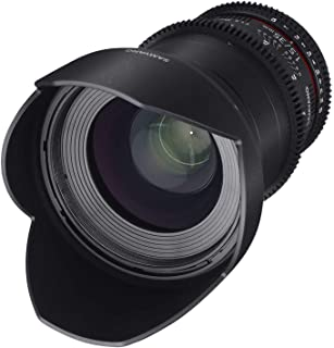 Samyang 35/1,5 Objektiv Video DSLR II Nikon F manueller Fokus Videoobjektiv 0,8 Zahnkranz Gear, Weitwinkelobjektiv schwarz